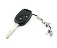 Car's remote control starter key with key-chain Stock Image