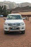 Car on safari in the desert Stock Photos