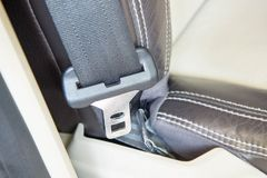 Car safety belt fastener head royalty free stock photography