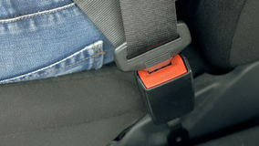 Car safety seat belt Royalty Free Stock Images