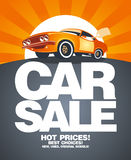 Car sale design template. Royalty Free Stock Photo