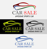 Car Sale Logo. Modern Auto Vehicle Company Logo Design Concept with Sports Car Silhouette. Vector illustration Stock Images