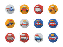 Car sale services round flat color icons Royalty Free Stock Images