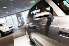 Car for sale. Car in showroom for sale stock photography