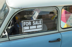 Car for sale. For sale sign on a car Stock Photo