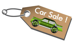 Car sale tag Royalty Free Stock Photos