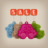 Car sale. Vector illustration Royalty Free Stock Photos