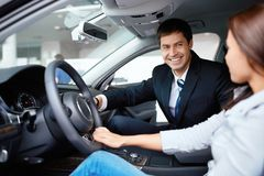 Car sales Royalty Free Stock Images