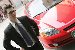 The car sales man Stock Image