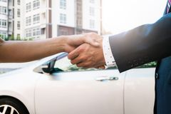 Car sales at the outdoor royalty free stock image