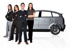 Car sales team Royalty Free Stock Images