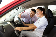 Car sales woman Stock Photography