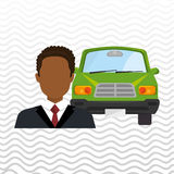 Car salesman design Stock Photography