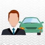 Car salesman design Stock Images