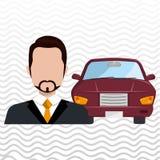 Car salesman design Royalty Free Stock Image
