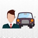 Car salesman design Royalty Free Stock Images