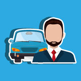 Car salesman design Stock Image