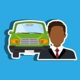 Car salesman design Royalty Free Stock Photo