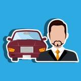Car salesman design Royalty Free Stock Photos