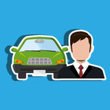 Car salesman design Stock Photo