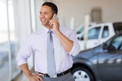 Car salesman phone stock photos