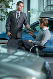 Car salesperson Stock Photos