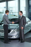 Car salesperson Royalty Free Stock Images