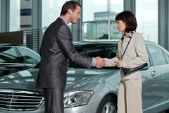 Car salesperson Stock Photo
