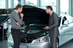 Car salesperson Royalty Free Stock Photography