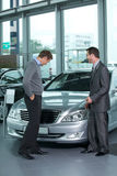 Car salesperson Stock Images