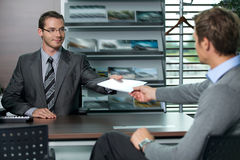 Car salesperson Stock Image