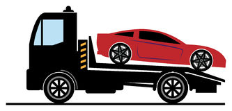 Car salvage. And towing sign Stock Image