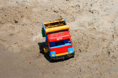 car in the sand Stock Photography