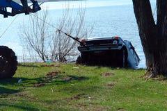 Car sank in the lake. Stock Image