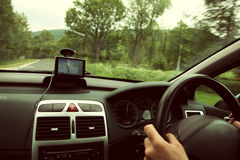 Car satelite navigation system gps device Royalty Free Stock Image