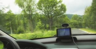 Car satelite navigation system gps device Stock Images