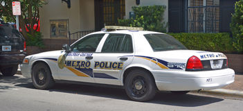 Car of Savannah-Chatham Metropolitan Police Department. SAVVANAH GEORGIA JUNE 27 2016: Car of Savannah-Chatham Metropolitan Police Department is the primary law Royalty Free Stock Photos
