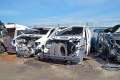 Car scrap yard stock photos