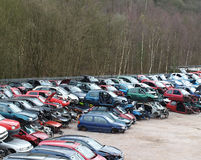 Car Scrapyard Stock Photography