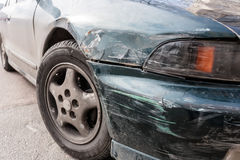 Car scratched with deep damage Royalty Free Stock Photos