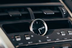Car screen multimedia system. Interior detail royalty free stock images