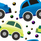 Car seamless pattern cute cartoon design Stock Photos