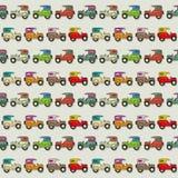 Car Seamless Wallpaper. Seamless wallpaper pattern with cartoon cars Royalty Free Stock Image
