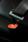 Car seat belt. Closeup of seat belt in car Royalty Free Stock Images