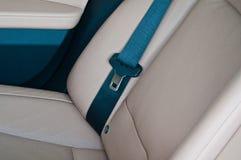 Car seat belt. Luxury car seat belt at showroom Royalty Free Stock Photo