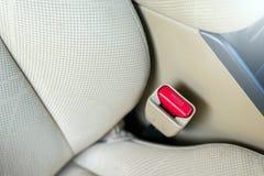 Car seat belt safety sytem inside Royalty Free Stock Photos