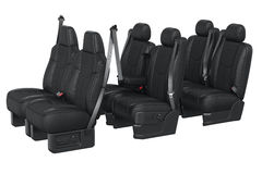 Car seat black leather Royalty Free Stock Photography