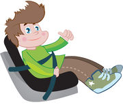 Car seat for children. Color Stock Images