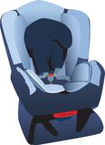 Car seat illustration Royalty Free Stock Images