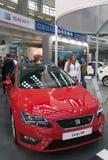 Car Seat Leon FR. BELGRADE-MARCH 19: The 5th DDOR BG INTERNATIONAL CAR SHOW .Car  Seat Leon FR on Belgrade car show.March 19,2016 in Belgrade,Serbia Royalty Free Stock Image